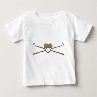 Skull and Crosshooks Baby T-Shirt