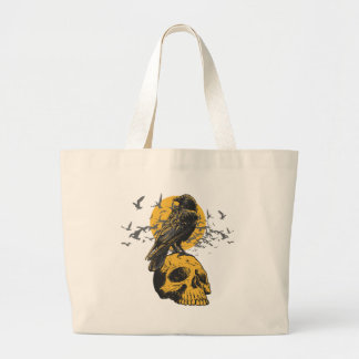 Skull and Crow Tote Bag