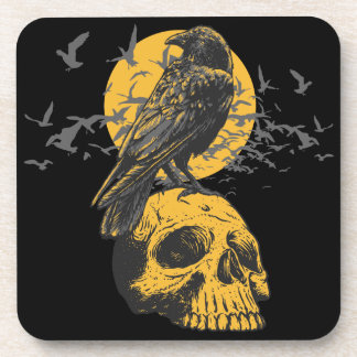 Skull and Crow Coaster