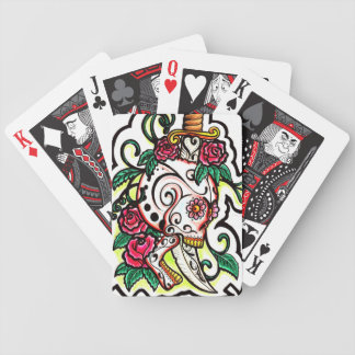 Skull and Dagger Bicycle Playing Cards