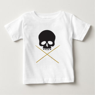 Skull and Drumstick Crossbones Baby T-Shirt