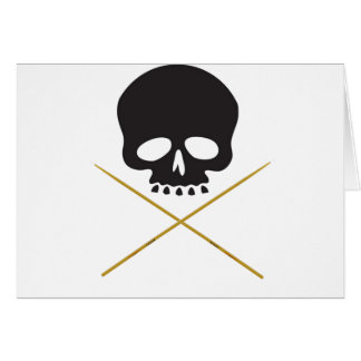 Skull and Drumstick Crossbones Greeting Card