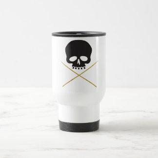 Skull and Drumstick Crossbones Travel Mug