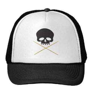 Skull and Drumstick Crossbones Trucker Hat