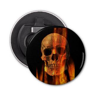 Skull and Fire Fridge Magnet Bottle Opener
