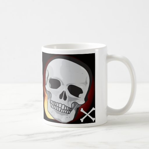 Skull and fire Mug