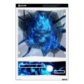 Skull and Flames inside Xbox 360 Skin For Xbox 360 S