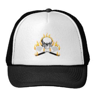 Skull and Flaming Spatulas Trucker Hat