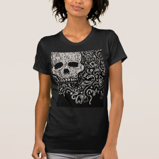 Skull and Flora Etching T-Shirt