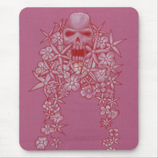 Skull and Flower Mouse Matt Mouse Pad
