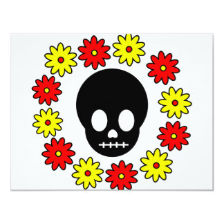 Skull and Flowers Card