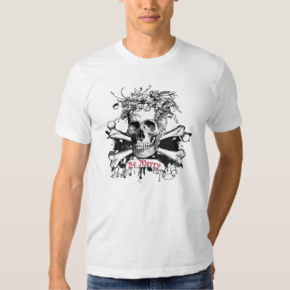 Skull and flowers t-shirts