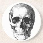 skull and full moon scary drink coaster
