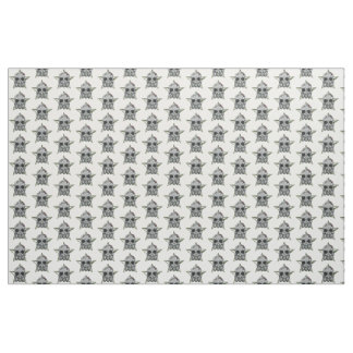 Skull and Gas Mask Fabric
