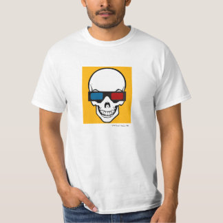 Skull and glasses 3d T-Shirt