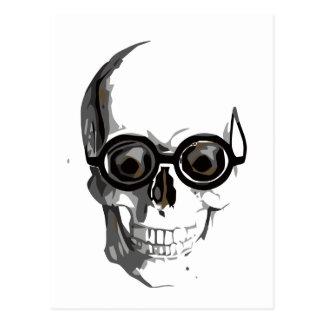 Skull and glasses postcard