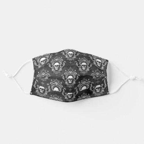 Skull and Grey Gothic Cloth Face Mask