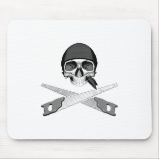 Skull and Handsaws Mouse Pad