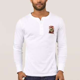 Skull and Hawk Henley T-Shirt