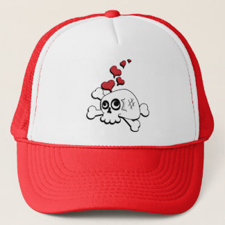 Skull and Hearts Trucker Hat