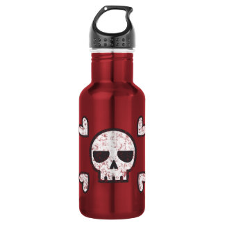 Skull and Hearts Water Bottle