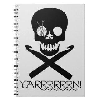 Skull and Hooks Spiral Notebook