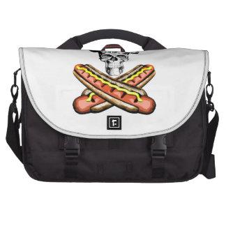 Skull and Hotdogs Bag For Laptop