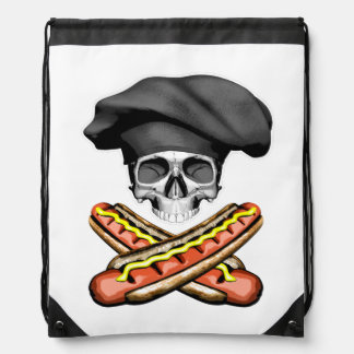 Skull and Hotdogs v3 Drawstring Backpack