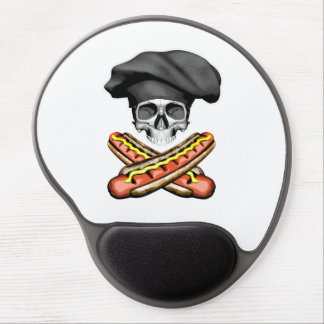Skull and Hotdogs v3 Gel Mouse Pad
