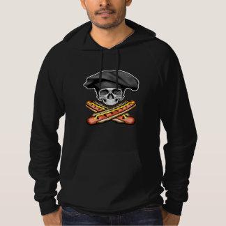 Skull and Hotdogs v3 Hooded Pullover