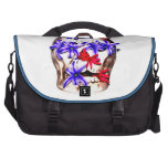 Skull and Hyacinth Flowers Laptop Commuter Bag
