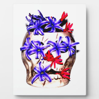 Skull and Hyacinth Flowers Plaque