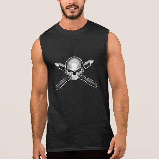 Skull and Irons Sleeveless T-shirts Tank Tops, Tanktops Shirts