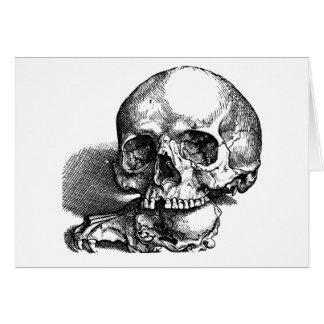 Skull and Jawbones Vintage sketch Stationery Note Card
