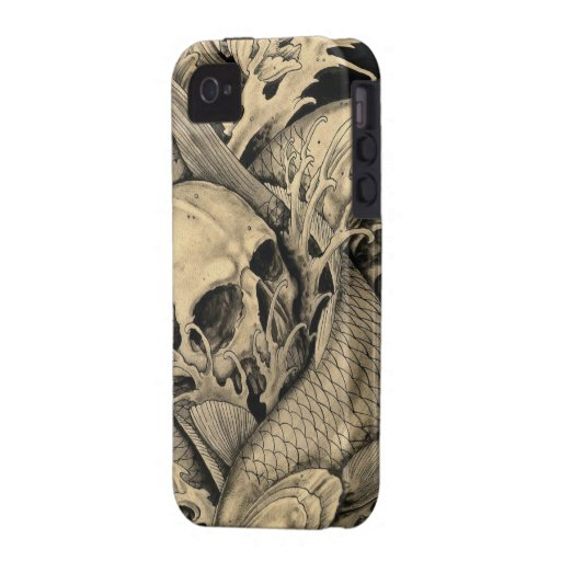 Skull and Koi iPhone 4/4S Covers