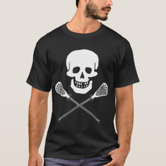 Skull and Lacrosse Sticks Dark T-Shirt