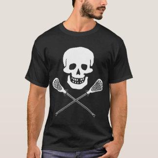 Skull and Lacrosse Sticks Dark T-Shirt