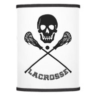 Skull and Lacrosse Sticks Lamp Shade