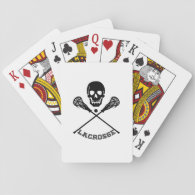 Skull and Lacrosse Sticks Playing Cards
