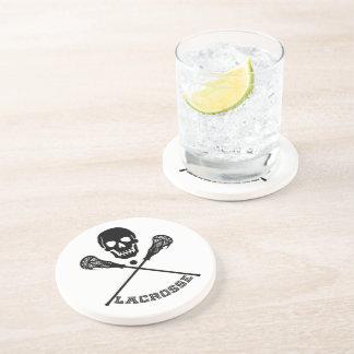 Skull and Lacrosse Sticks Sandstone Coaster
