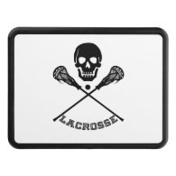 Skull and Lacrosse Sticks Tow Hitch Cover