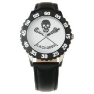 Skull and Lacrosse Sticks Watch