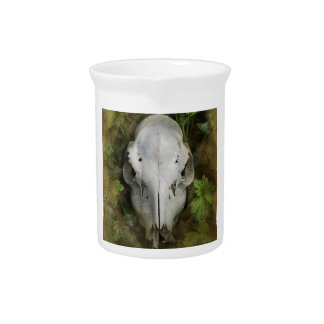 Skull and Leaves Drink Pitcher