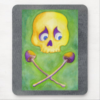 Skull and Mushroom Mouse Pad Mouse Pad