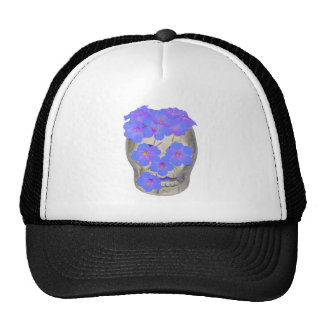 Skull and Pastel Flowers Trucker Hats