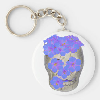 Skull and Pastel Flowers Key Chains