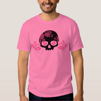Skull and Pink Flower Pattern Shirt