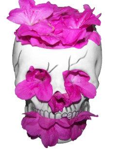 Flower skull jigsaw puzzles zazzle skull and pink flowers jigsaw puzzle mightylinksfo