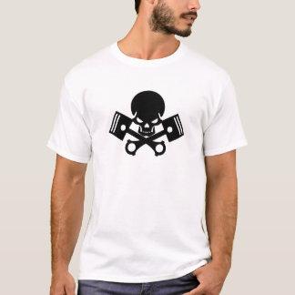 Skull and piston engine car cool skulls piston car T-Shirt