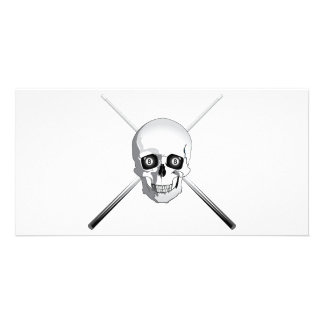 Skull and Pool Cues Card